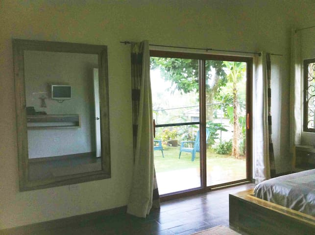 looking out from bedroom