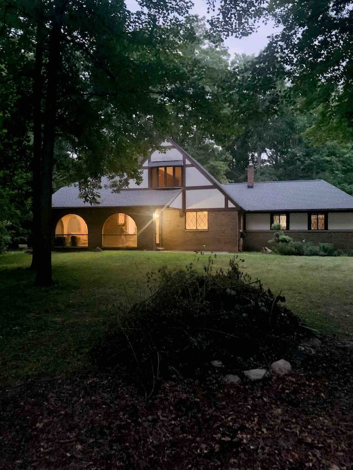 Wooded Cozy Cabin like in the city of Northville