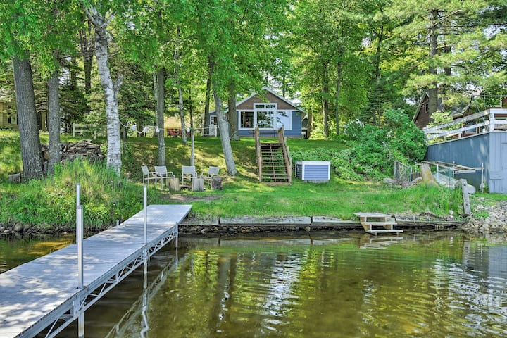 White Lake Home w/Patio, Fire Pit, Boat Dock!
