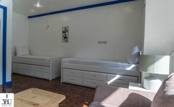 3BU Hostel La Union Barkada Room for 4 w/ Balcony