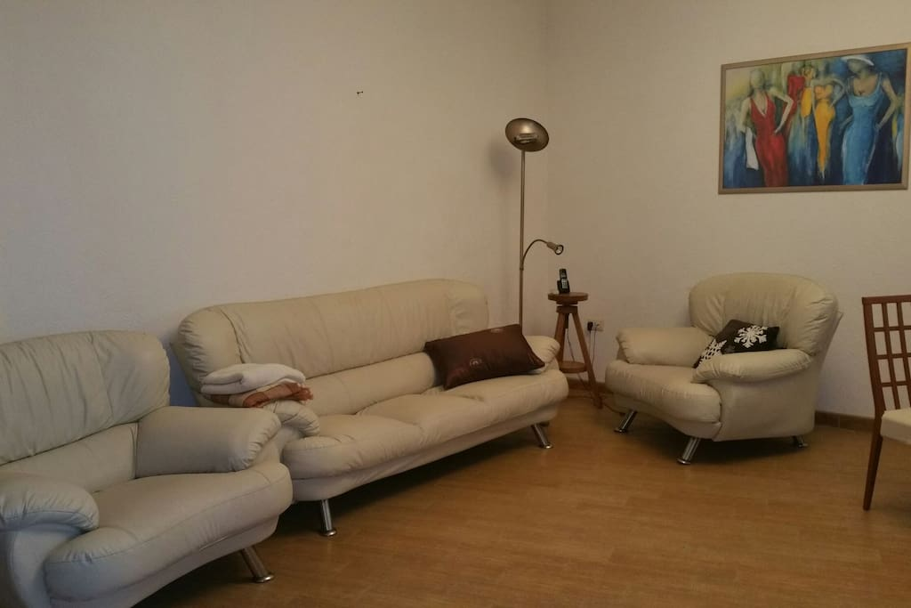 Living area with couch