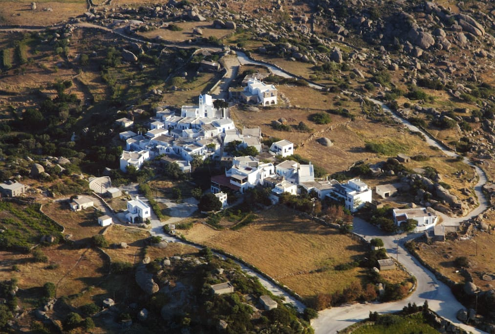 A bird's eye view of the village