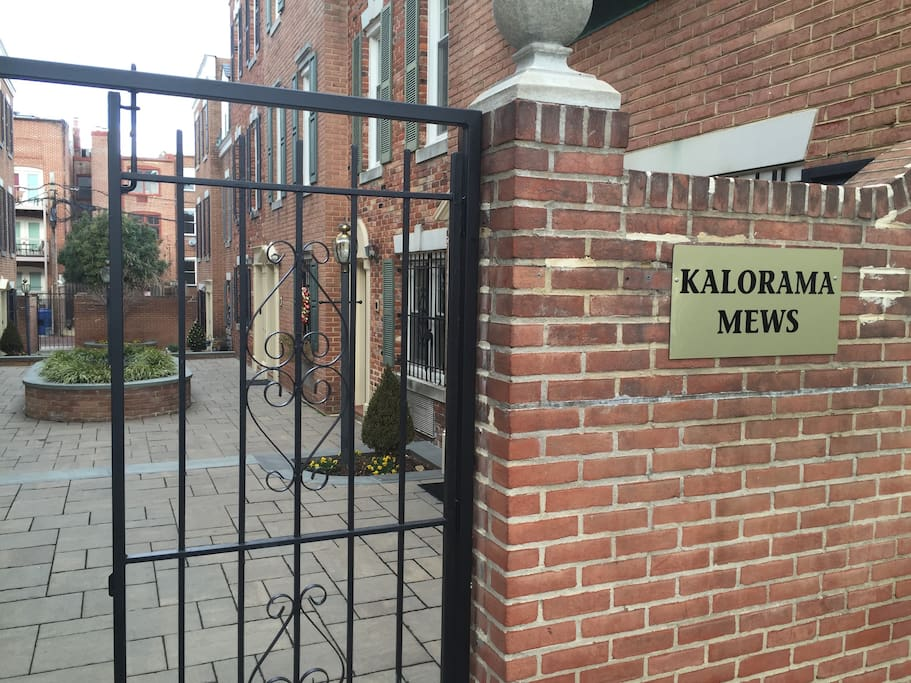"Kalorama Mews. Fun fact: Mews is an English word meaning ""a row or street of houses or apartments that have been converted from stables or built to look like former stables."" So we've got that going for us."