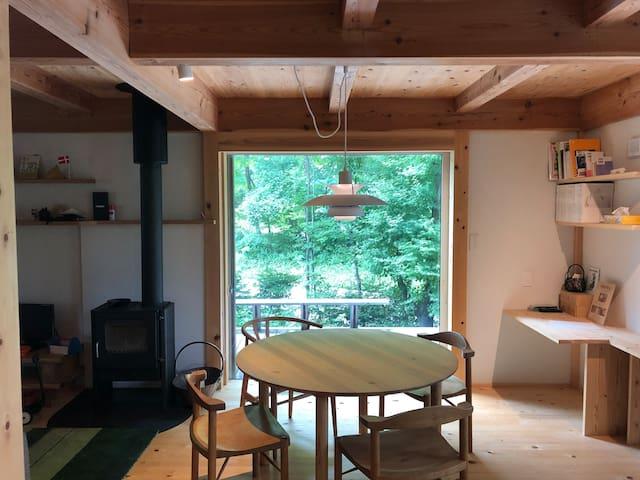 木曽駒高原のモデルハウス