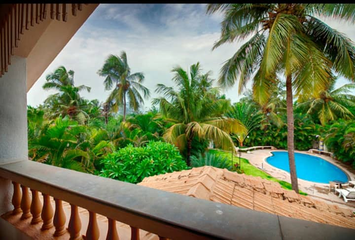 The luxury Heritage Beach Villa on Baga beach