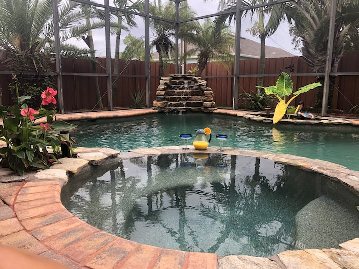 Villa Ten Twenty tranquil oasis with heated pool.