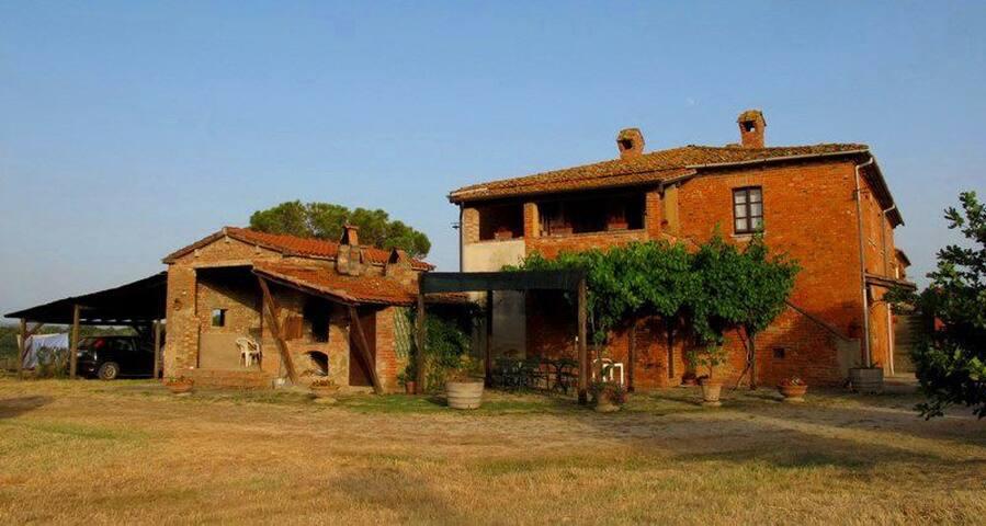 Rustico toscano con piscina_appartamento 2/4 posti - Cortona - Dom