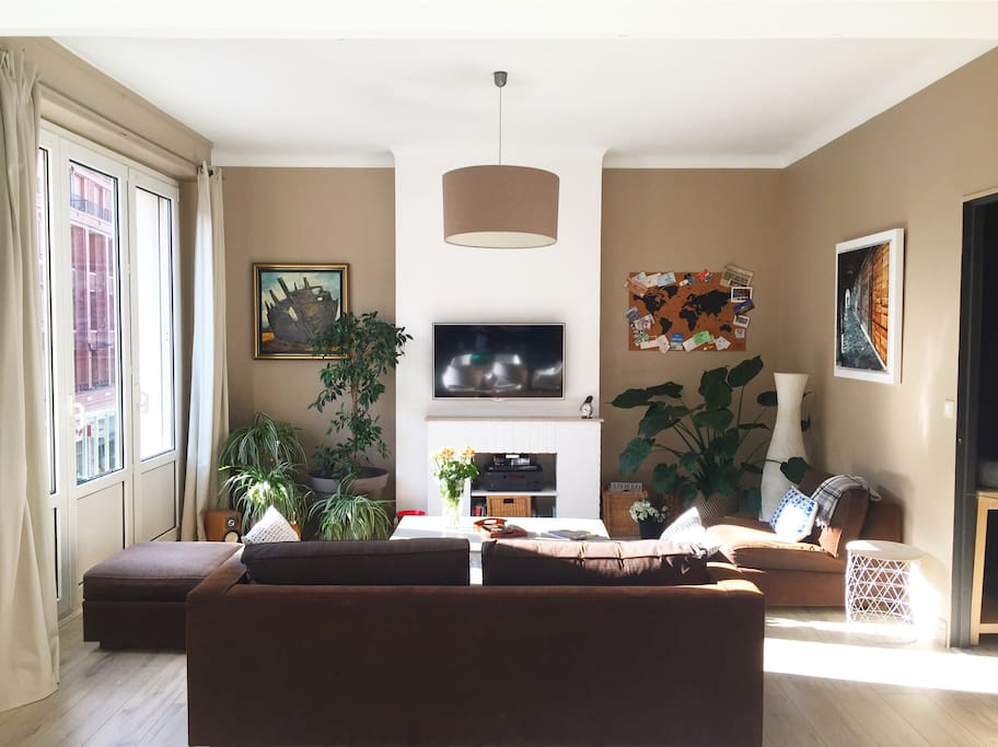 Living-room with HD TV