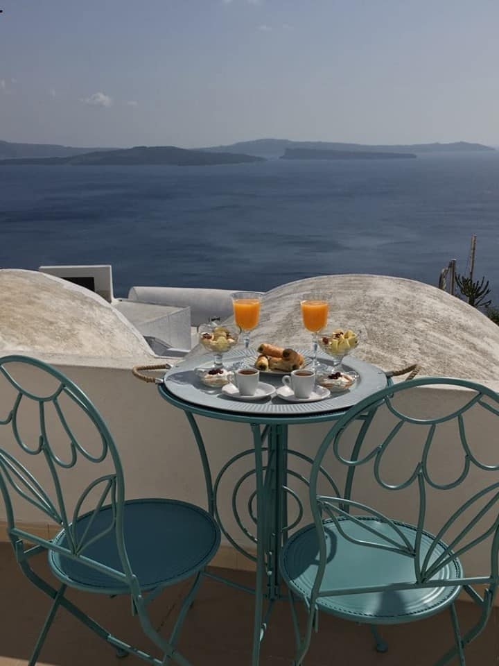 Santolia Caldera Apartment with Balcony & Sea View