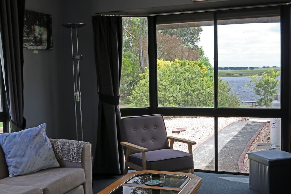 Lake view from unit