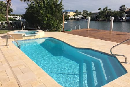 4BR 3B, Heated Pool & Spa, 60' Dock - Marathon
