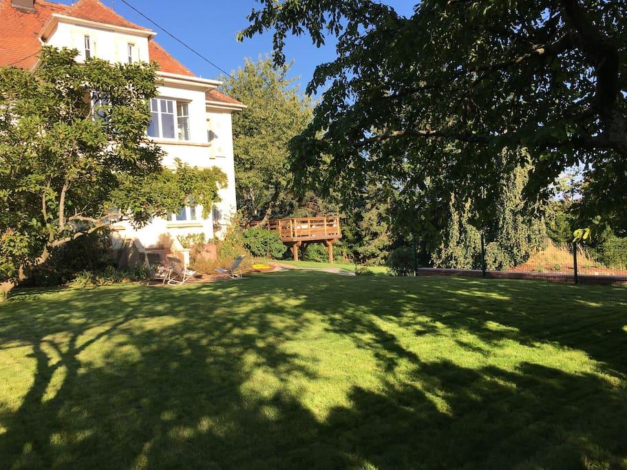 The Garden, outdoor terrace in background