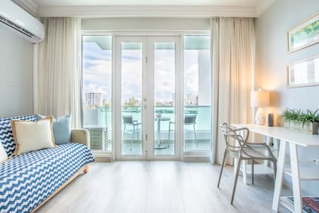 Atlantic View Studio   One of the best views in San Juan in a fun and trendy location