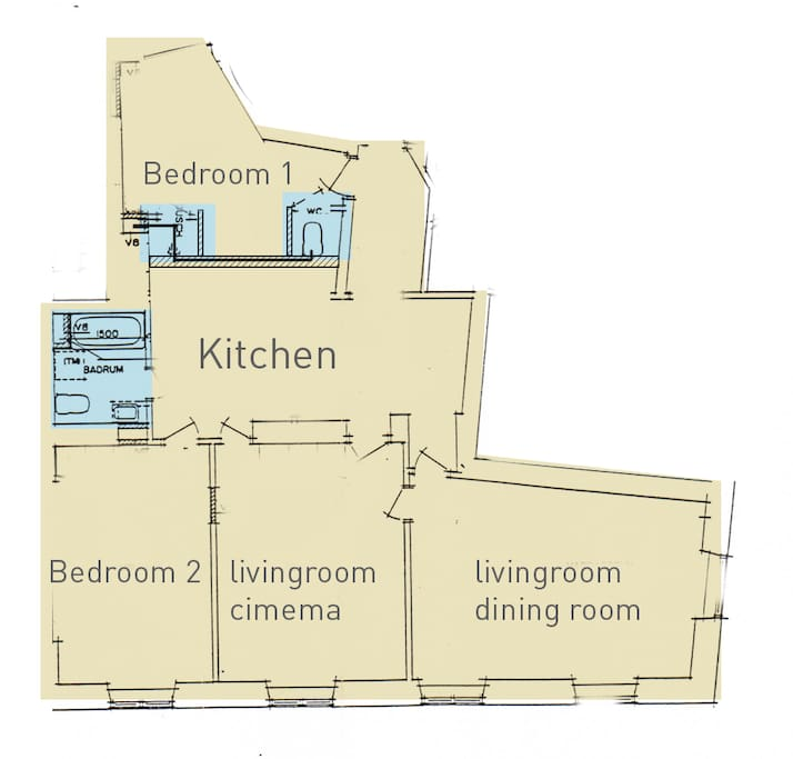 This is our real apartment.  Not a hiring out. Thats why everything is like a home.
