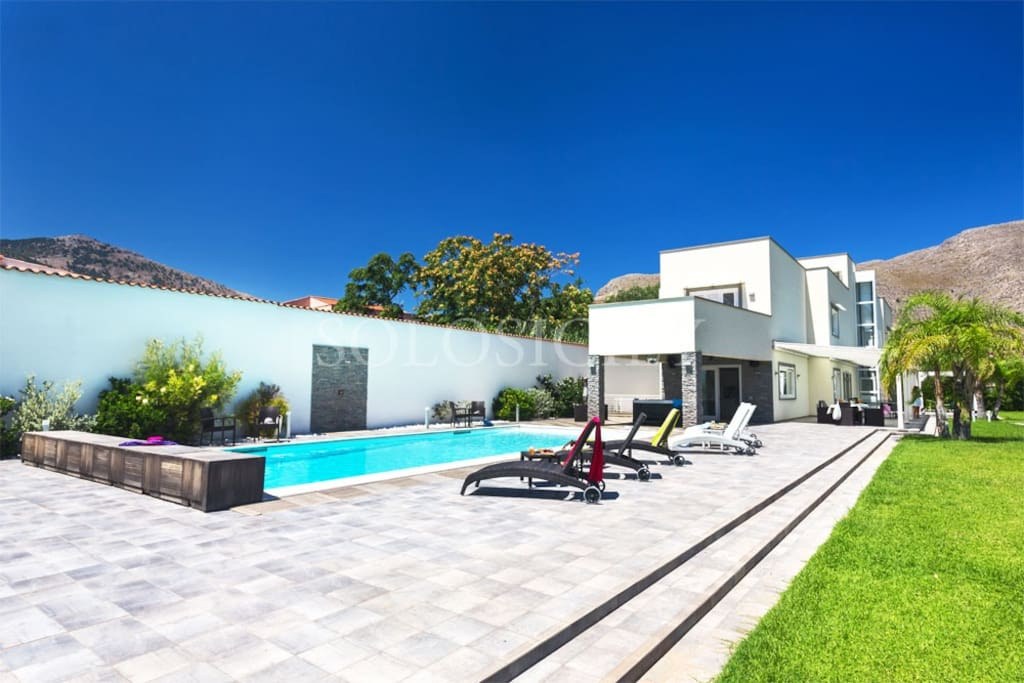 The villa with its lovely pool