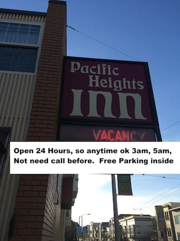 Hotel....on AirBnb: Open 24 hours Front Desk on Union St.
