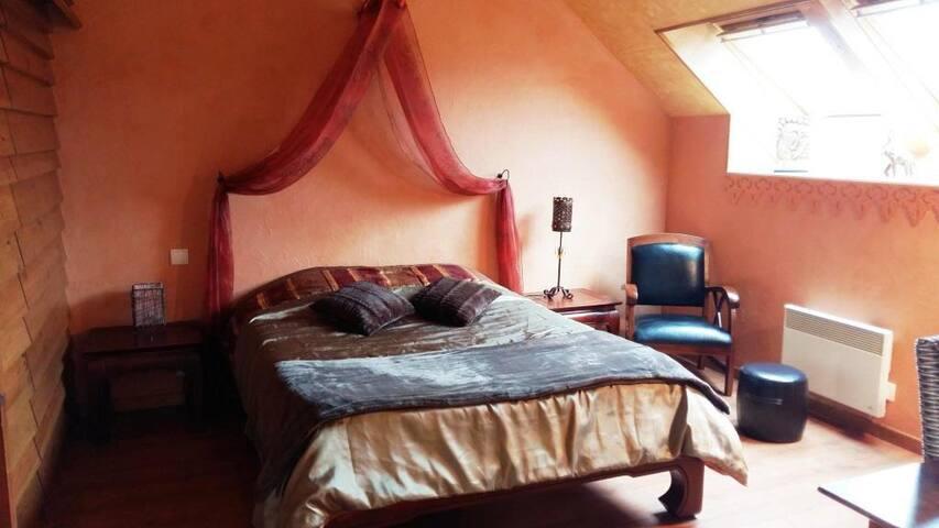 "Chambres ""Bali"" : une de nos 3 chambres d'hôtes. - Espinasse-Vozelle - Bed & Breakfast"