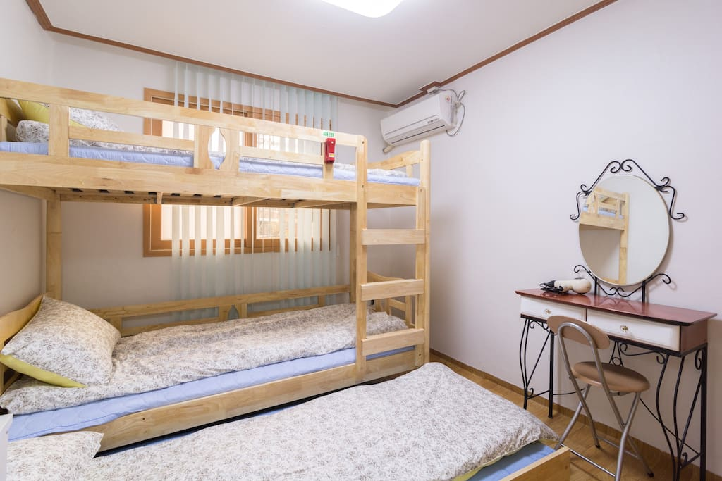 Three beds for 3 persons