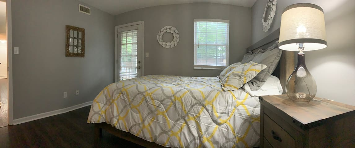 Bedroom with screened in porch access
