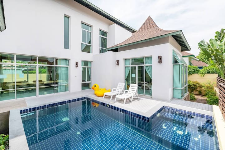 AnB pool villa Glass house close to Jomtien beach
