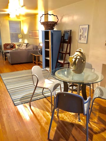 Lower Level Unit: Dining Area and Living Room