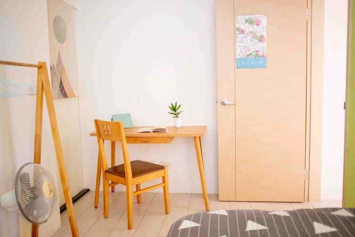 NTU / Single Room w/private Bth /MRT 3mins / 100m