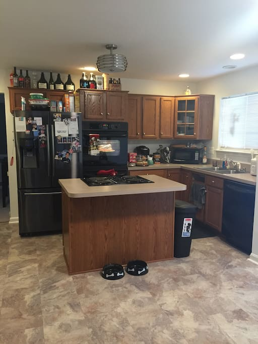 Beautiful kitchen with new floors!