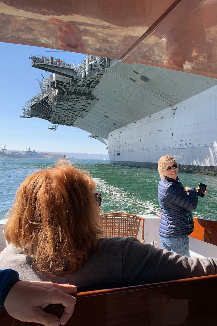 View the USS Midway from the water