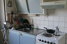 Classic Swedish kitchen cooking area