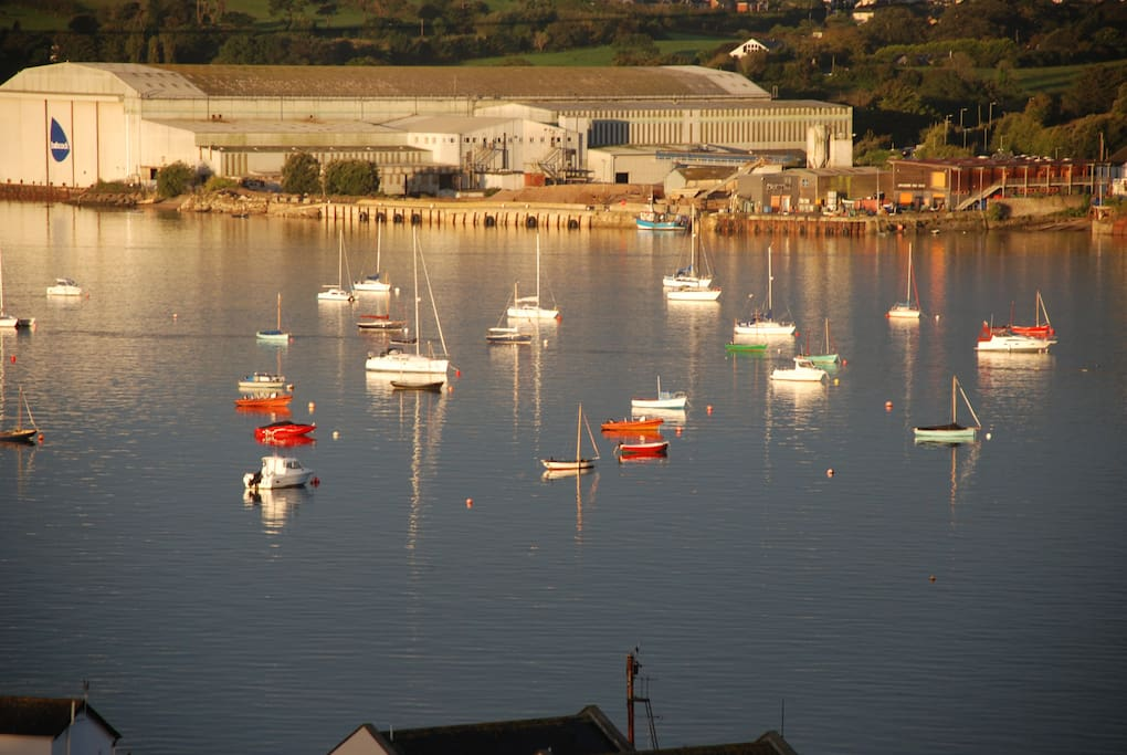 An early morning photo of the boats from the North Devon Yacht Club.
