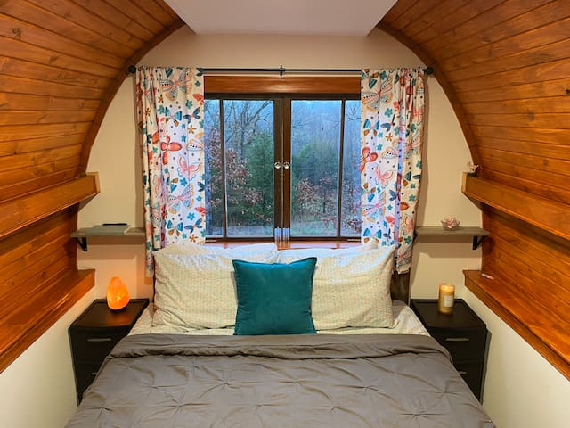 Your bed has a great view!