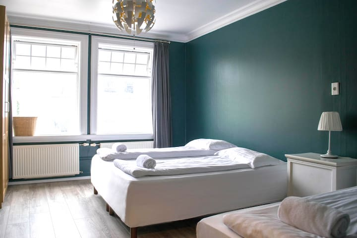Nice Triple Room *Heart of Akureyri City*