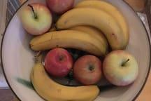 Organic fruit served
