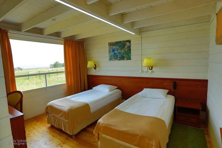 Улучшенный номер с двумя кроватями BaikalView