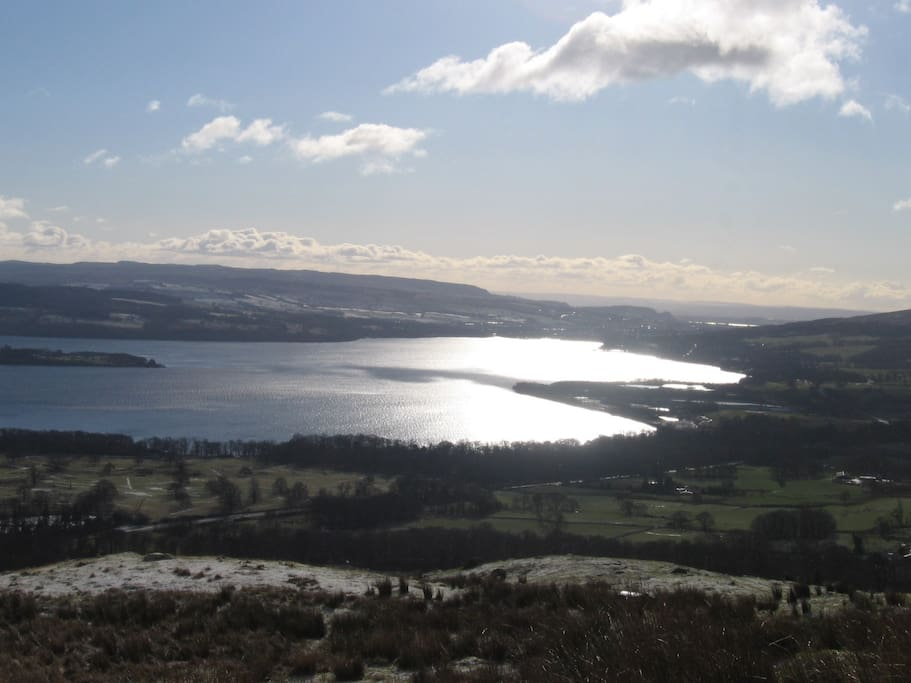 Loch Lomond from our hills