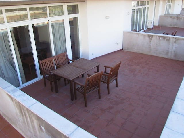 Ground floor with private terrace and pool