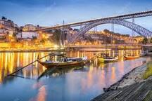 O Rio Douro entre Porto e Gaia