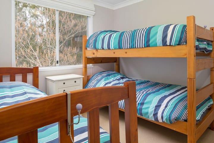 3rd bedroom (sleeps three with built in wardrobes)