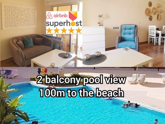 NEW Apartment with 1 bedroom pool view central