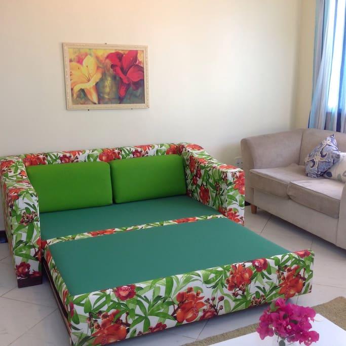 sofá cama confortável