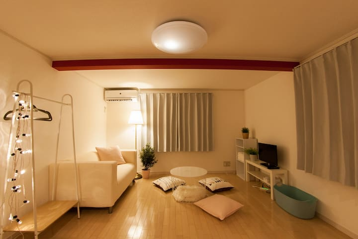 Cozy place in local gourmet town【Shabby Chic Stye】 - Shinagawa-ku - Lägenhet