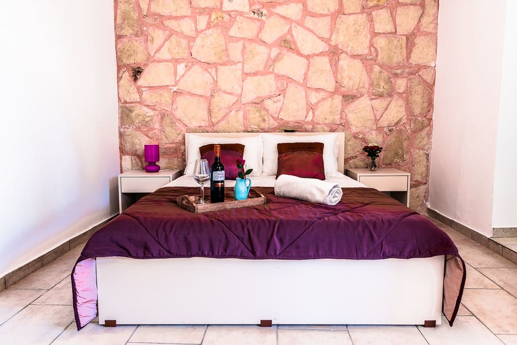 Beautiful double room, a single bed can be added for one child, or an extra person.
