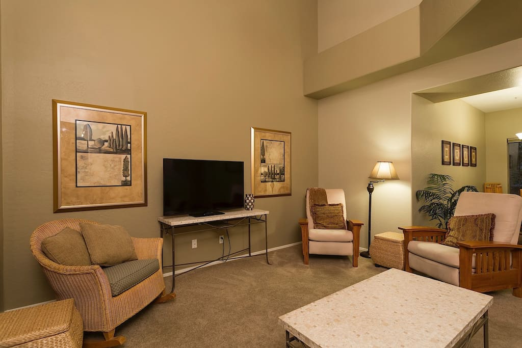 TV Room with Fireplace