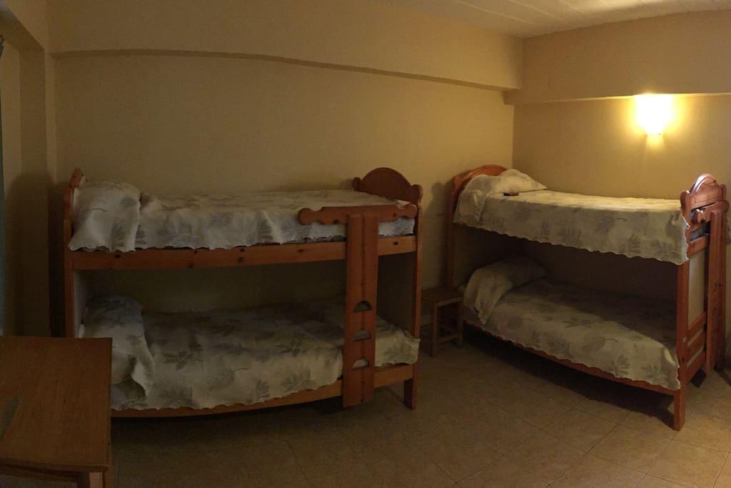 Dorm bed shared room