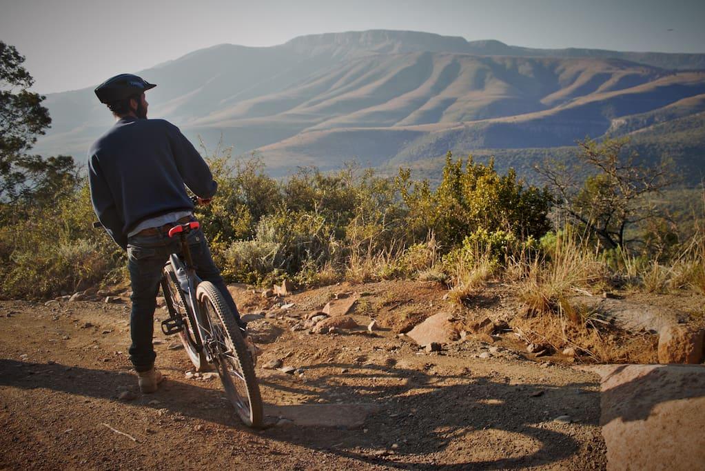 Mountain biking around Elundini.