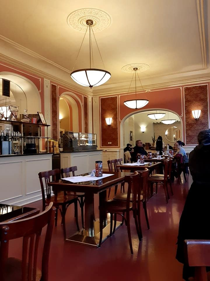 Franz Kafka's favorite cafe