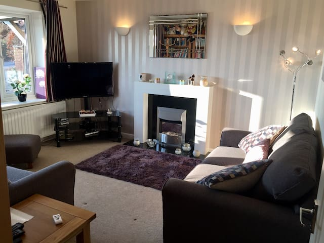 Downstairs sitting room with sofa bed