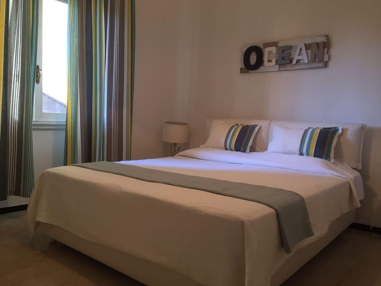 Sleeping Room with spacious wardrobe