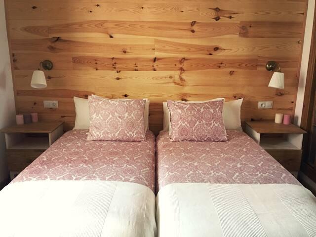 Dormitorio 2 camas de 90 cm.