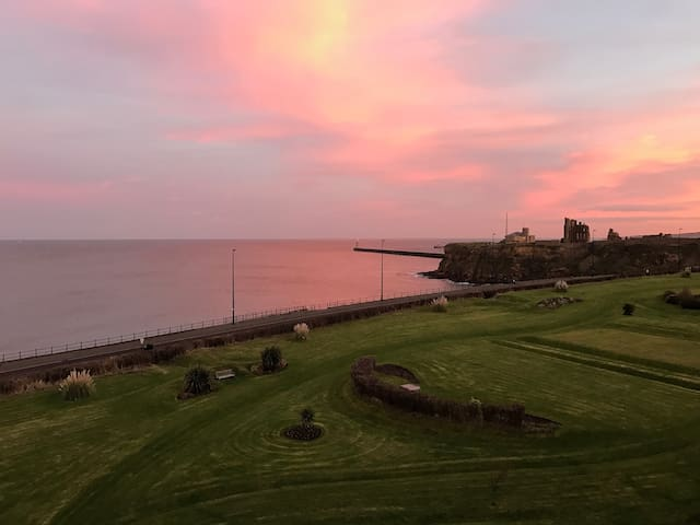 Tynemouth penthouse apartment with views of sea